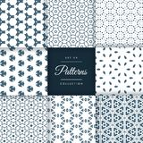 Amazing set of abstract patterns in floral style. Patterns colle. Ction stock illustration
