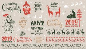 Set holidays royalty free stock photos
