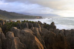 Amazing shapes of Pancake rocks Royalty Free Stock Images