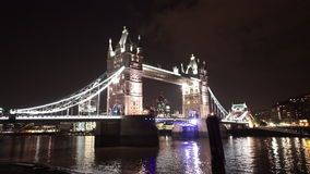 Amazing shot of Tower Bridge London by night. LONDON, ENGLAND stock footage