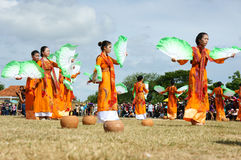 Amazing show, Vietnamese stadium, Kate carnival Stock Photography
