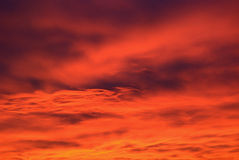 Amazing sk. Sky with amazing colors at sunset Stock Photography