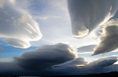 Amazing skies over Puerto Natales, Chile Royalty Free Stock Photos
