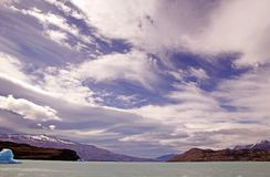 Amazing sky in the Argentino Lake, Argentina Royalty Free Stock Image