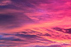 Amazing sky background with clouds in sunrise. Amazing pink sky background with clouds in sunrise royalty free stock photography