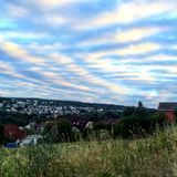 Amazing Sky in the Black Forest. Germany Stock Photography