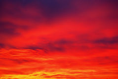 Amazing sky. Sky with amazing colors at sunset Stock Photography