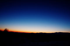 Amazing Sky Colors After Sunset Royalty Free Stock Images
