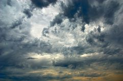 Amazing  sky and dark storm cloud Stock Photos