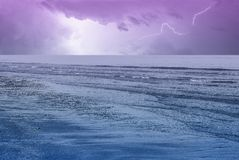 Amazing sky over the ocean Royalty Free Stock Image