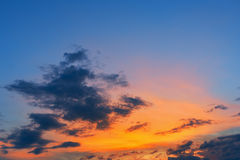 Amazing sky. The amazing sky in sunset time royalty free stock images