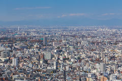 Amazing skyline of Tokyo, Japan aerial view. Royalty Free Stock Images