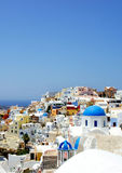 Amazing small white houses of Santorini Royalty Free Stock Photography