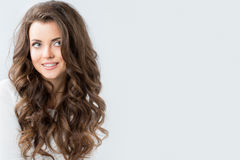 Amazing smiling brunette Stock Photos