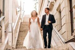 Free Amazing Smiling Wedding Couple. Pretty Bride And Stylish Groom Stock Image - 173741891