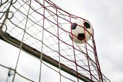 Amazing Soccer football Goal. Royalty Free Stock Photo
