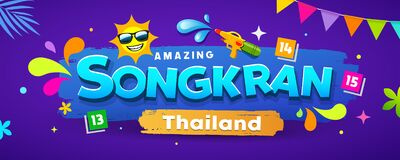 Free Amazing Songkran Thailand Festival Colorful Banners Design Background Royalty Free Stock Images - 168863909