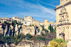 Amazing Spain - city on cliff rocks - Cuenca Stock Image