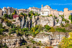 Amazing Spain - city on cliff rocks - Cuenca Royalty Free Stock Photos