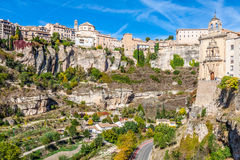 Amazing Spain - city on cliff rocks - Cuenca Royalty Free Stock Photo
