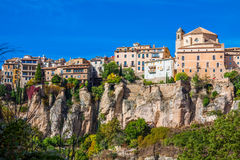 Amazing Spain - city on cliff rocks - Cuenca Stock Images