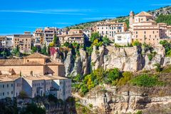 Free Amazing Spain - City On Cliff Rocks - Cuenca Royalty Free Stock Images - 113602129