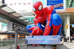 The amazing spiderman statue Royalty Free Stock Images