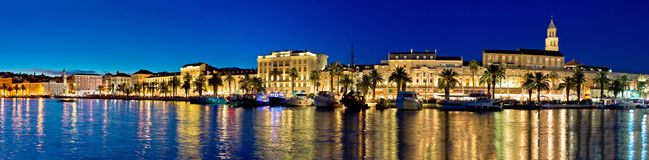 Amazing Split waterfront evening panorama Stock Photos