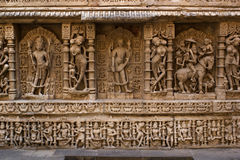 Amazing stone carving at Rani ki vav Stock Images