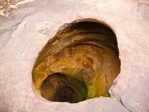 Amazing stone hole in Thailand. stock photo