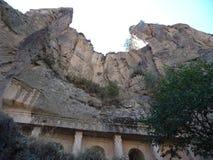 Amazing Stone Wall - rock formation stock image
