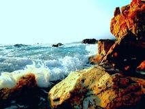 Amazing stony coast, wild turkey beach Royalty Free Stock Photo