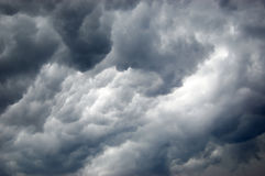 Amazing storm clouds. Amazing dark storm clouds in the sky Stock Photography