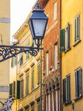 Amazing street lantern in the historic district of Pisa royalty free stock photos