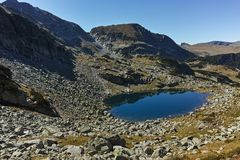Amazing Summer landscape with mountain lake,  Rila Mountain Royalty Free Stock Photography
