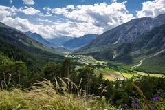 Park National of Ecrins mountains stock photography