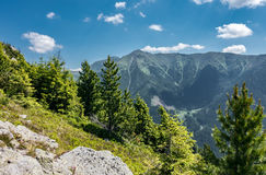Amazing summer mountains under blue sky Royalty Free Stock Photography