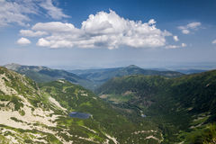 Amazing summer mountains - valley with lake Royalty Free Stock Images