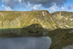 Summer view of The Eye Lake, Rila Mountain, The Seven Rila Lakes, Bulgaria stock photography