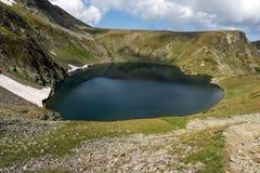 Summer view of The Eye Lake, Rila Mountain, The Seven Rila Lakes, Bulgaria stock photos