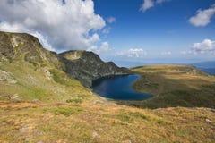 Summer view of The Kidney Lake, Rila Mountain, The Seven Rila Lakes, Bulgaria stock images