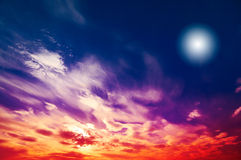 Amazing Sun In The Wonderful Sky. Royalty Free Stock Images
