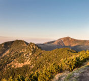 Amazing sunny evening on ridge of Little Fatra hills Stock Images