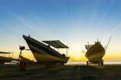 Amazing sunrise at beserah beach Royalty Free Stock Images