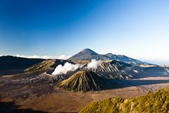 Amazing sunrise at Bromo national park. Royalty Free Stock Image