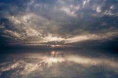 Amazing sunrise calm lake landscape Stock Images