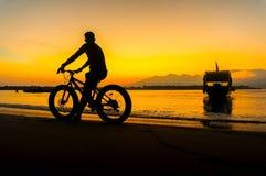 Amazing sunrise at gili island Royalty Free Stock Image