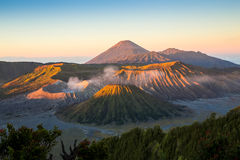 Amazing sunrise in Mount Bromo Stock Photo