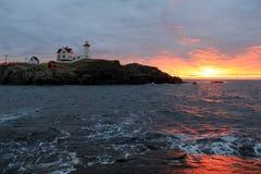 Amazing Sunrise Over Nubble Lighthouse, York Beach, Maine, 2017 Royalty Free Stock Image