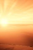 Amazing sunrise over the sea Royalty Free Stock Image